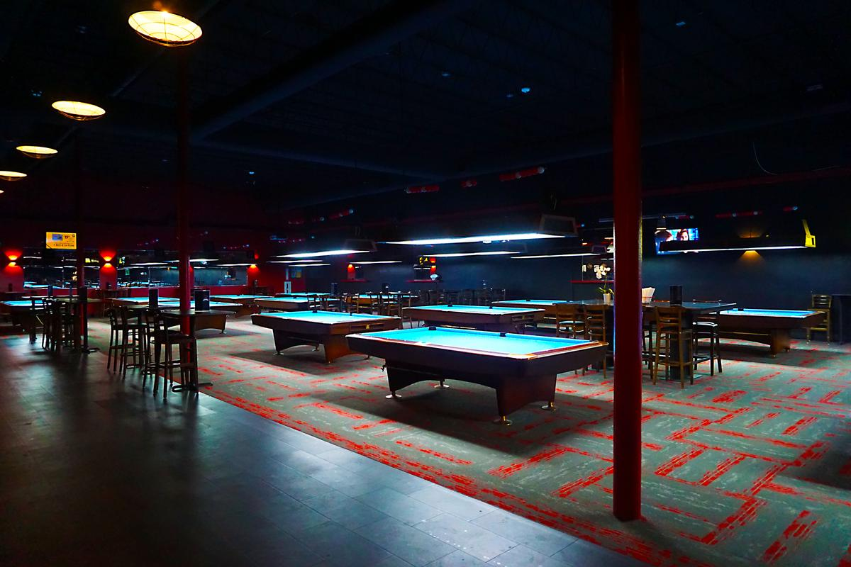 Large Pool Hall side view