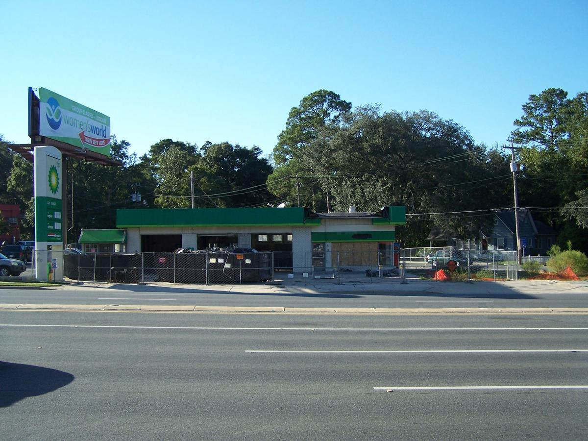 BP Service Station Before Renovation