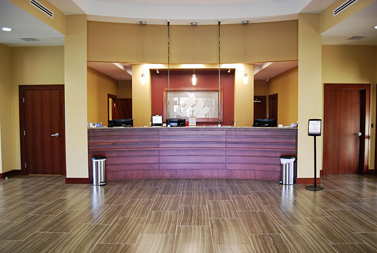 Front Desk & Greeting Area